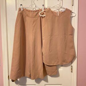 Summer Set (wide leg cropped pant+sleeveless top)